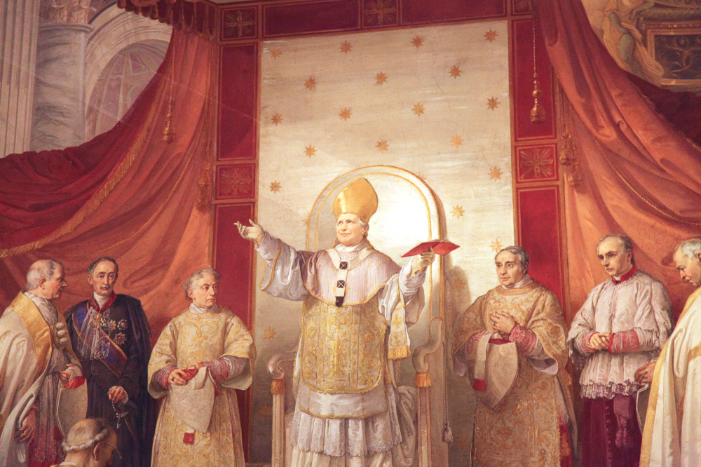 Proclamation of the dogma of the Immaculate conception Podesti